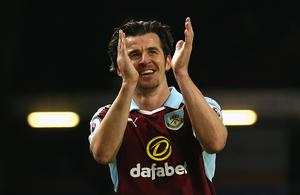 BURNLEY, ENGLAND - JANUARY 14:  Joey Barton of Burnley shows appreciation to the fans after the Premier League match between Burnley and Southampton at Turf Moor on January 14, 2017 in Burnley, England.  (Photo by Jan Kruger/Getty Images)