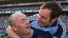 Glory days: Dublin manager Anthony Daly celebrates with Ryan O'Dwyer after the Leinster SHC final win over Galway in 2013. Photo: Sportsfile