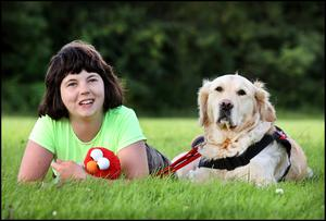 Charlotte Breen and her dog Koda, who hails from Mallow. Picture: Steve Humphries