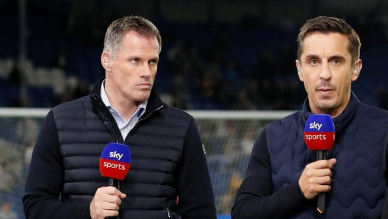 'I think it's a ludicrous analysis' - Carragher and Neville clash over Manchester United's tactics at Anfield