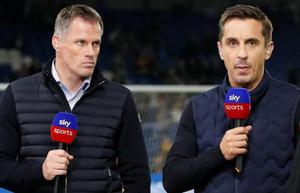 Gary Neville and Jamie Carragher. CREDIT: REUTERS