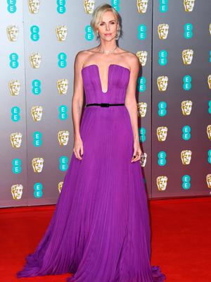 Charlize Theron attends the EE British Academy Film Awards 2020 at Royal Albert Hall on February 02, 2020 in London, England. (Photo by Gareth Cattermole/Getty Images)