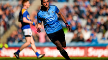 Bernard Brogan celebrates after scoring Dublin's fourth goal