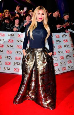 Katie Price arriving at the National Television Awards 2017, held at The O2 Arena, London. NTAs. Photo credit should read: Ian West/PA Wire