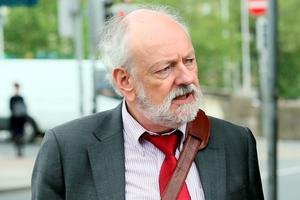 Husband Kevin Carroll outside court yesterday. Pic:Collins Courts
