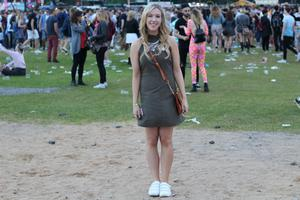 Day Three - Amy Mulvaney in a look from Penneys at Longitude. Photographer: Jennifer Duffy