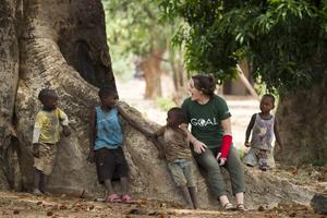 Irish hockey star Róisín Upton spent time in Malawi as a GOAL ambassador with rugby player Jenny Murphy and Dublin footballer Sinead Aherne
