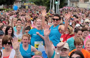 Runners during the Women's Mini Marathon last year