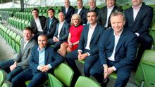 Tv3 Autumn Schedule launch at the Aviva Stadium Dublin Tv3's Rugby World Cup Team  Picture Brian McEvoy No repro fee for one use
