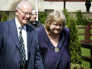 Maeve Binchy with Gordon Snell. Picture: Gerry Mooney