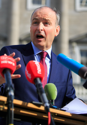 Fianna Fail leader Micheal Martin (pictured) looks               set to rotate the role of Taoiseach with Fine Gael leader               Leo Varadkar
