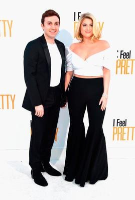 """Daryl Sabara and Meghan Trainor attends the premiere of STX Films' """"I Feel Pretty"""" at Westwood Village Theatre on April 17, 2018 in Westwood, California.  (Photo by Frazer Harrison/Getty Images)"""
