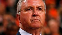 Netherlands coach Guus Hiddink is under pressure following a run of poor results
