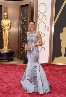 TV personality Robin Roberts attends the Oscars held at Hollywood & Highland Center on March 2, 2014 in Hollywood, California.  (Photo by Jason Merritt/Getty Images)