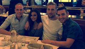 Nadia Forde with her boyfriend Dominic Day, brother Stephen and friend