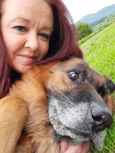 COMPASSION: Shakira Murray of Little China Dog Rescue with rescued Jaya