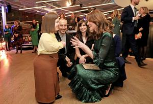 The Duchess of Cambridge talks to activist and writer Sinéad Burke, Andrea Bandell, of Trinity's Science Gallery, and academic and broadcaster Aoibhinn Ní Shúilleabháin and during an event at theGuinness Storehouse in Dublin. Picture: Julien Behal