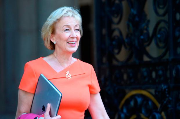 Environment Secretary Andrea Leadsom arrives at Downing Street in London. PRESS ASSOCIATION Photo. Picture date: Sunday June 11, 2017. See PA story POLITICS Reshuffle. Photo credit should read: David Mirzoeff/PA Wire
