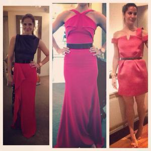 Amanda Byram undergoing a fashion conundrum. Photo: Twitter/ @amandabyram1