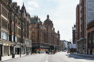 Silent London in lockdown. This picture shows Brompton Road © Damien Hewetson