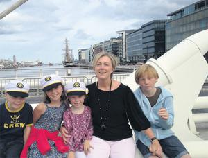 Fine Gael TD for Meath East Regina Doherty and her children Ryan (8) Grace (11), Kate (6), and Jack (13)