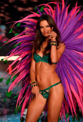 Model and Victoria's Secret Angel Alessandra Ambrosio from Brazil walks the runway during the 2015 Victoria's Secret Fashion Show at Lexington Avenue Armory on November 10, 2015 in New York City.  (Photo by Dimitrios Kambouris/Getty Images for Victoria's Secret)