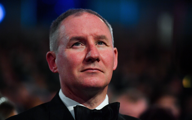 1 November 2019; Dublin football manager Jim Gavin in attendance during the PwC All-Stars 2019 at the Convention Centre in Dublin. Photo by Brendan Moran/Sportsfile