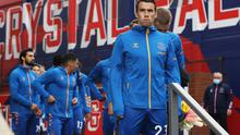 Everton's Seamus Coleman before the match
