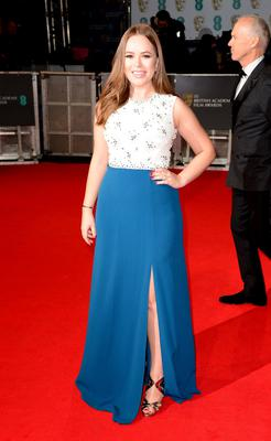 Tanya Burr attends the EE British Academy Film Awards at the Royal Opera House, Bow Street in London.
