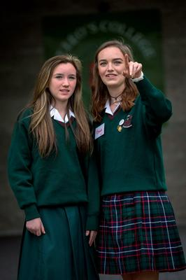 Mentoring: Adriana Martin (left) a new student at St Leo's in Carlow with Meitheal Leader Emma Murphy. Photo: Dylan Vaughan