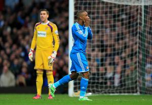 Sunderland's Jermain Defoe rues a missed chance against West Ham United during the Barclays Premier League match at Upton Park, London (Nigel French/PA Wire)