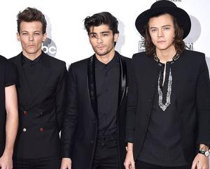 (L to R) Louis Tomlinson, Zayn Malik and Harry Styles