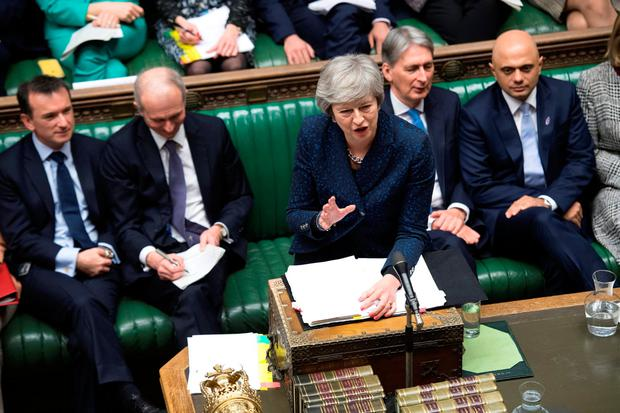 Theresa May faces a mountainous challenge in the Commons on Tuesday. Picture: Reuters