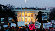 Demonstrators take part in the Women's March to protest Donald Trump's inauguration close to the White House Photo: REUTERS/Lucas Jackson