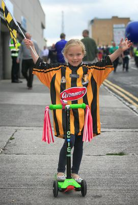 Cliodhna Redmond 6 from Greensbridge at the All Ireland Hurling Final between Kilkenny & Tipperary at Croke Park, Dublin. Photo:  Gareth Chaney Collins