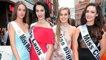 Nicole Forde, Eileen Moore,Ciara Quinn and Claire Lauren Guilfoyle at the launch of Miss Ireland. Picture: Brian McEvoy