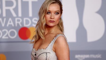 Laura Whitmore poses as she arrives for the Brit Awards at the O2 Arena in London, Britain, February 18, 2020 REUTERS/Simon Dawson