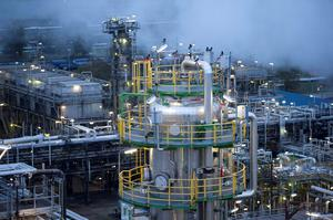 General view of the Petrolchemie und Kraftstoffe (PCK) oil refinary in Schwedt/Oder, October 20, 2014. There is no need to panic at the recent collapse in oil prices, the secretary general of OPEC said October 29, 2014, saying low prices would curb competing supplies and require the group to pump far more by the end of the decade