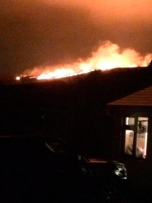The fire at the Dublin mountains Photo: DFB Twitter