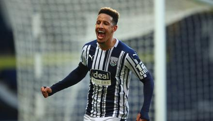 West Bromwich Albion's Callum Robinson celebrates scoring their side's third goal of the game during the Premier League match at The Hawthorns. PA Wire/PA Images