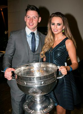 Philly Mc Mahon and Sarah Lacey at the All Ireland Celebration Banquet in The Gibson Hotel