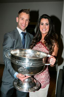 Johnny Cooper and Saoirse Mc Crann at the All Ireland Celebration Banquet in The Gibson Hotel