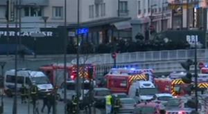 The scene outside the Paris grocery store as French special forces prepared to move on the hostage takers
