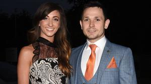 Rachel Tracey and Johnny Ward outside RTE studios