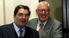 Colleagues: John Hume and Ian Paisley sharing a joke at a European Commission event in Belfast in 1999. Photo: Pacemaker