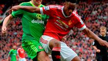 John O'Shea battles it out with Anthony Martial at Old Trafford