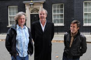 Top Gear presenters James May, Jeremy Clarkson and Richard Hammond as the cast and crew of the show have flown out of Argentina after facing protests from politicians and army veterans for using a car whose number plate apparently referred to the Falklands War