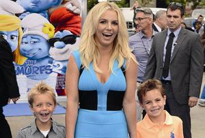 Britney Spears with sons Sean Preston, left, and Jayden