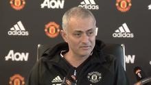 Jose Mourinho speaks during his Manchester United press conference