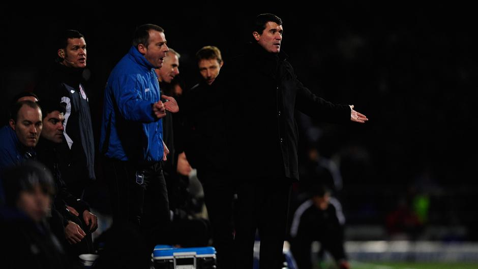 Roy Keane during his final game in charge of Ipswich Town on January 3, 2011. Photo: Getty